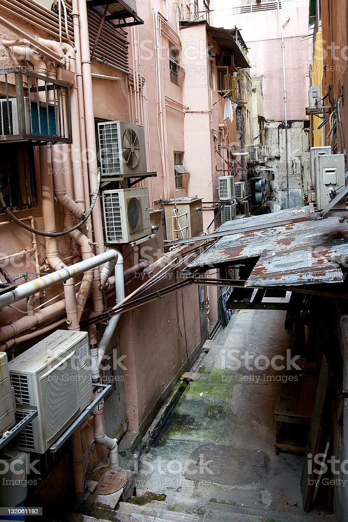 Dirty Urban Alley royalty-free stock photo