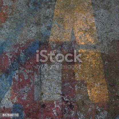 istock Dirty urban concrete grunge background 847846110