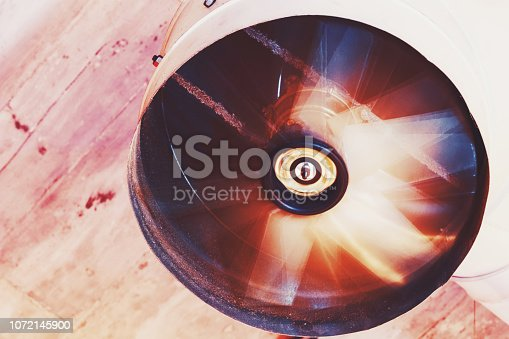 istock Dirty Ventilation system on the ceiling 1072145900