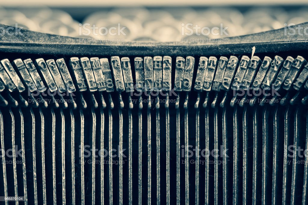 Dirty vintage typewriter keyboard royalty-free stock photo