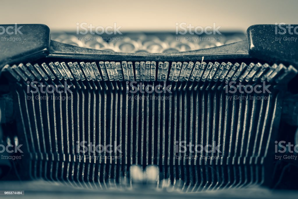 Dirty vintage typewriter keyboard royalty-free stock photo