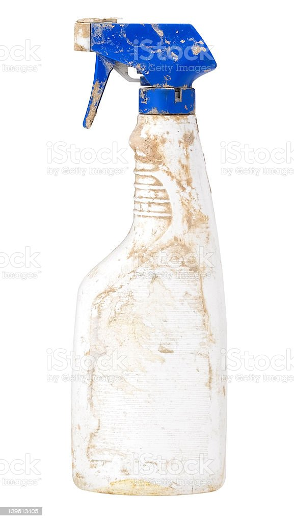 dirty water sprayer with clipping path. royalty-free stock photo