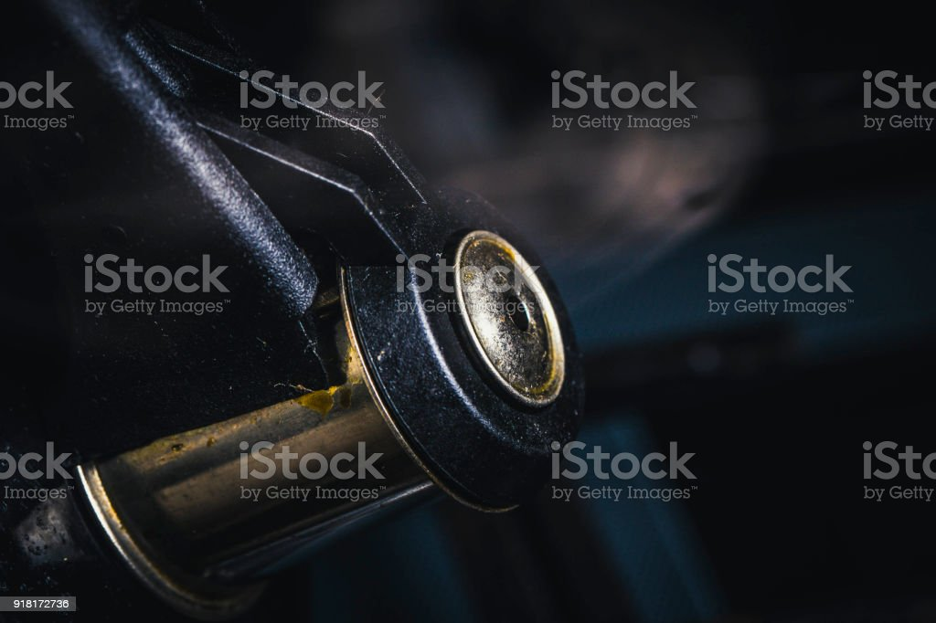 dirty whistle from a teapot stock photo
