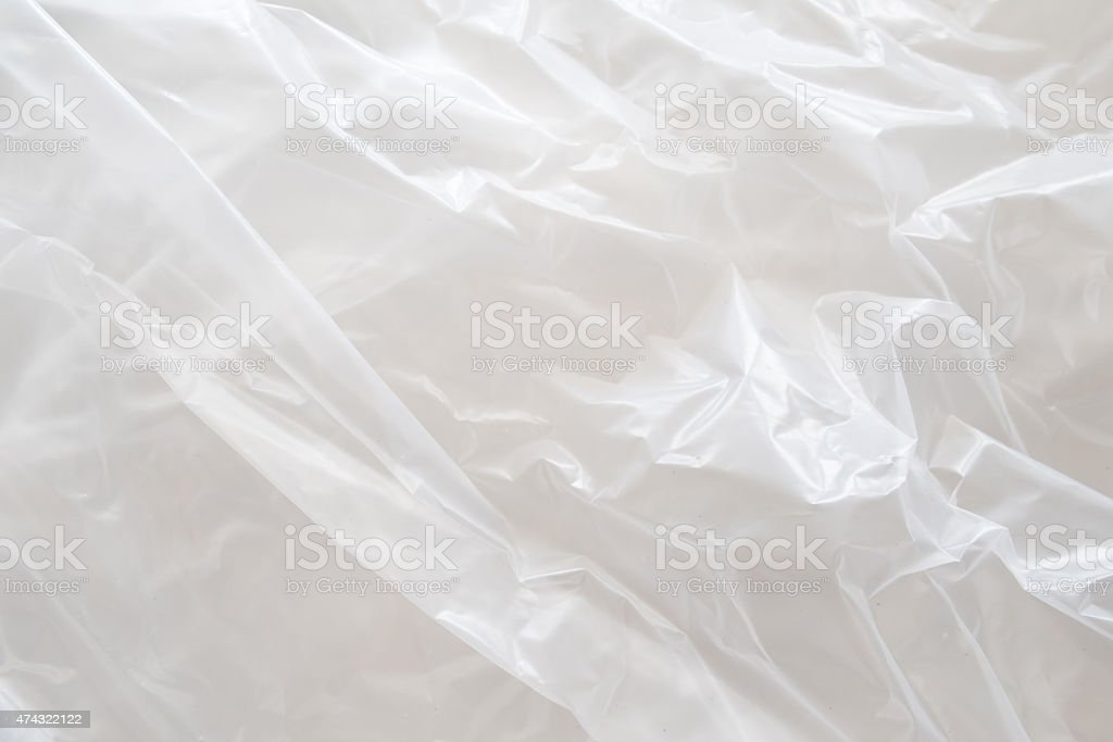 Dirty White Plastic Bag Texture, macro, background stock photo