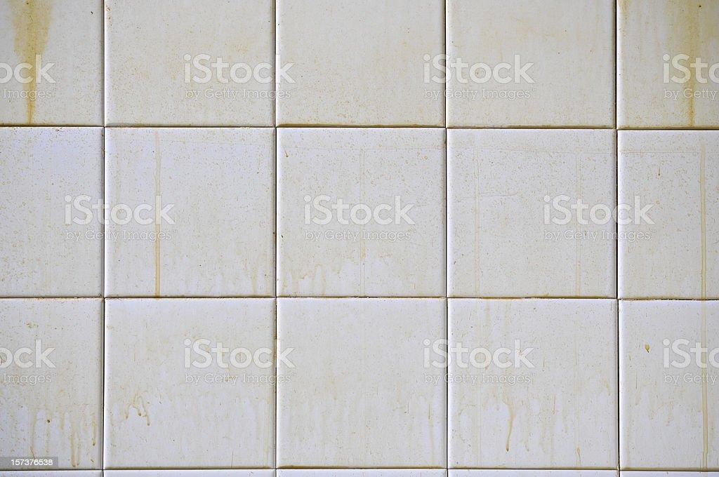 Dirty White Tiles stock photo