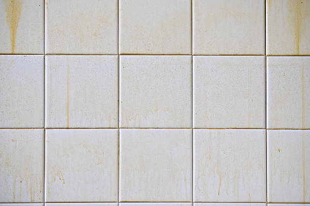 Dirty White Tiles stock photo