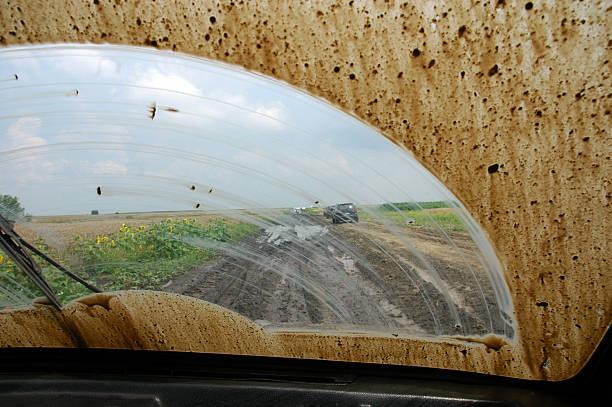 Dirty Windschutzscheibe des Autos – Foto