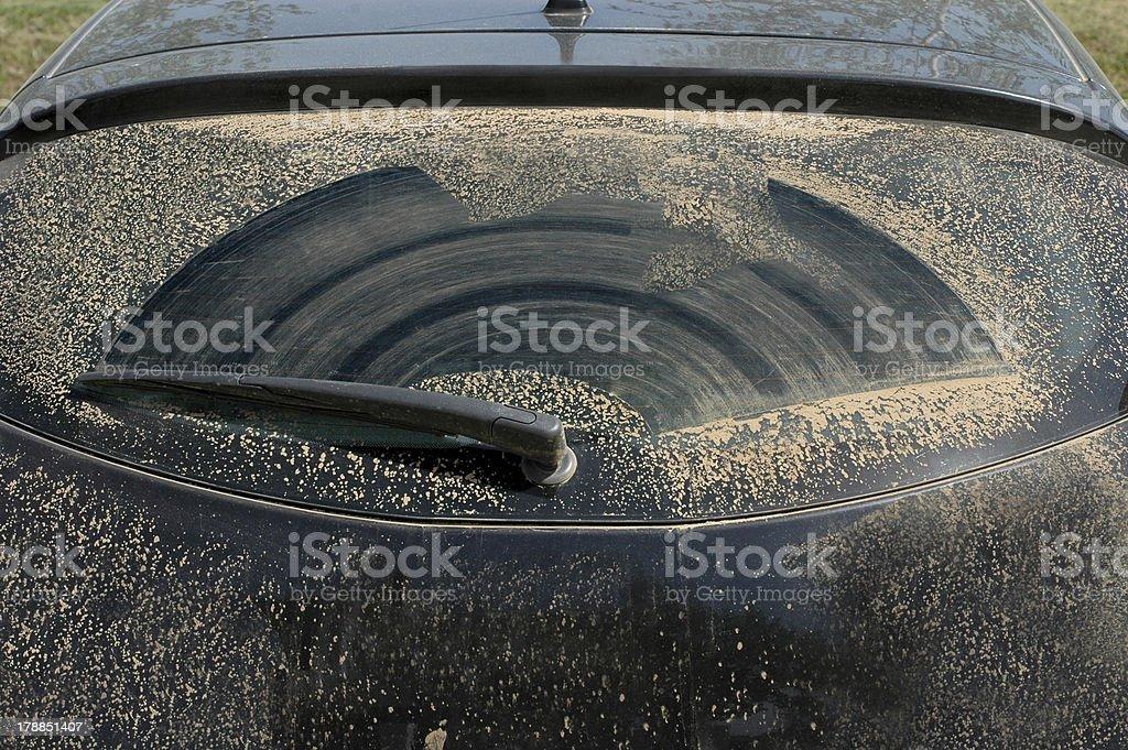 Dirty Windschutzscheibe des rally car – Foto