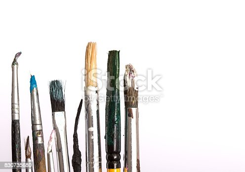 510006691 istock photo Dirty wooden brushes 830735680