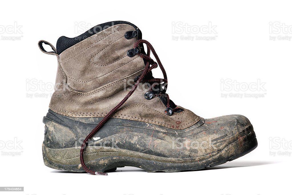 Dirty Work Boot stock photo