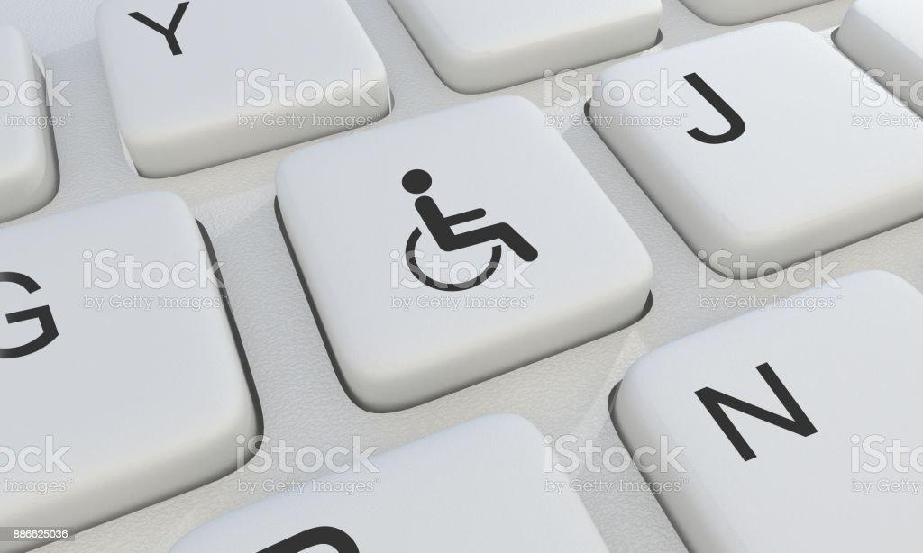 Disabilities Symbol On Keyboard 3d Render Stock Photo Istock