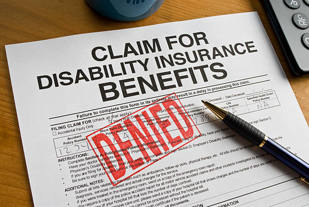 Disability Benefits Form stock photo