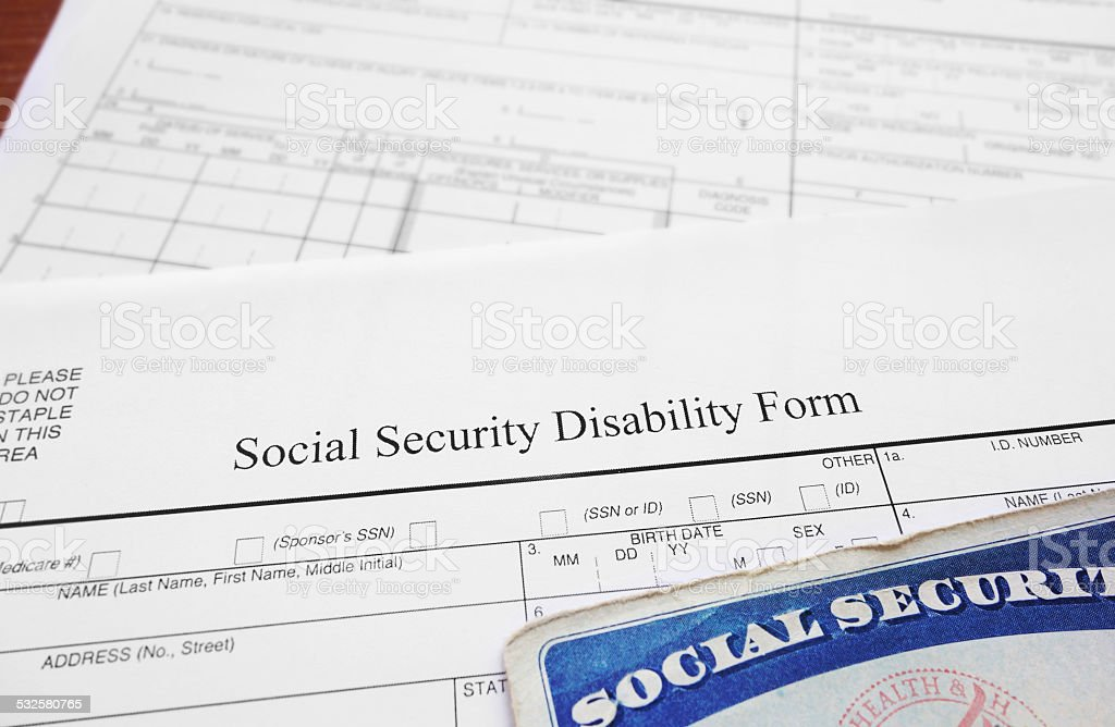 disability form stock photo