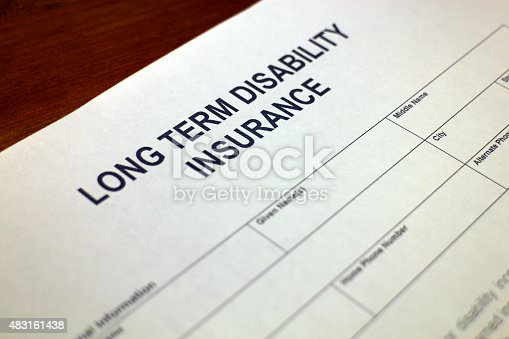 istock Disability Insurance Application Form 483161438