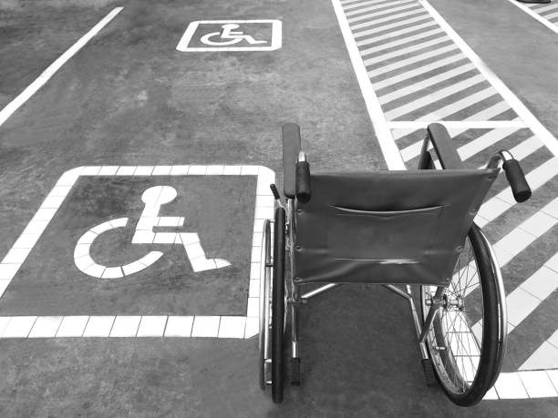 Disability parking stock photo