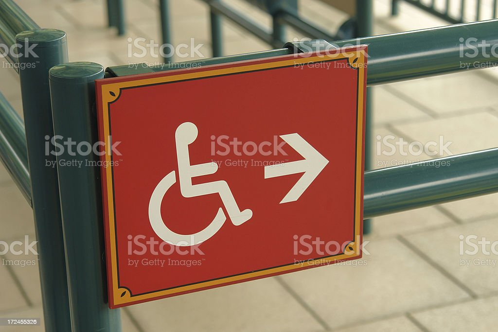 Disable Signage stock photo