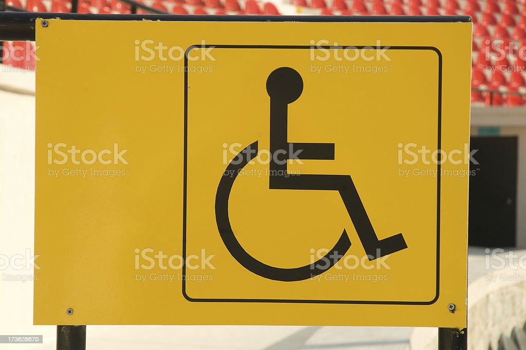 Disable symbol stock photo