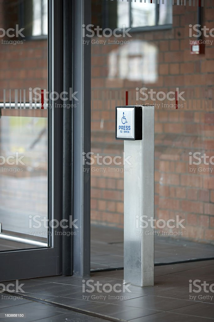 Disabled access button to operate automatic doors royalty-free stock photo & Disabled Access Button To Operate Automatic Doors Stock Photo \u0026 More ...