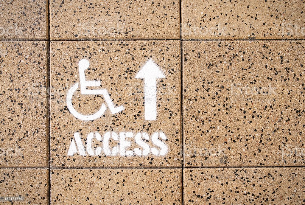 Disabled Access Guidance royalty-free stock photo