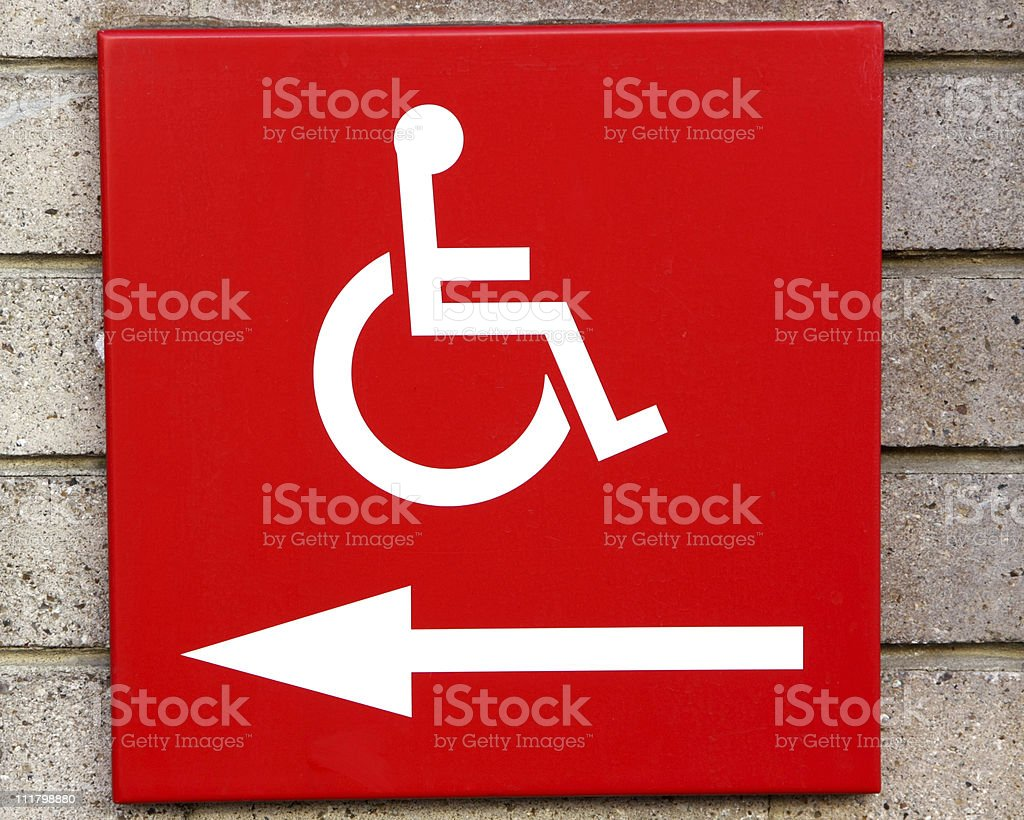 disabled access sign royalty-free stock photo