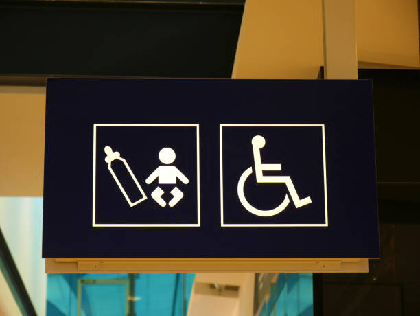 Disabled Baby Change sign stock photo