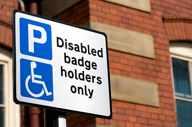 Disabled Badge Holders Only Sign stock photo