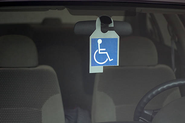 disabled badge stock photo