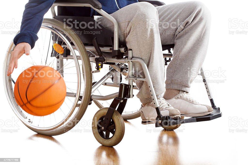 Discapacitados jugador de baloncesto - foto de stock