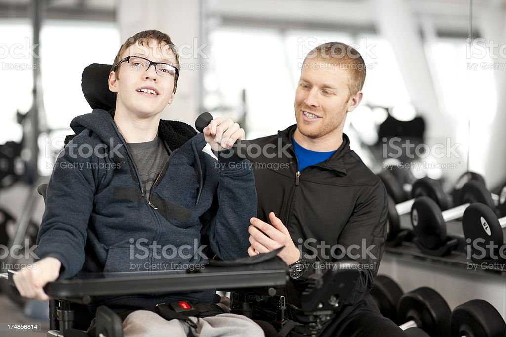 Disabled Boy royalty-free stock photo