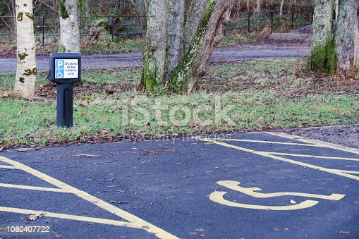 istock Disabled car park space symbol badge holders 1080407722