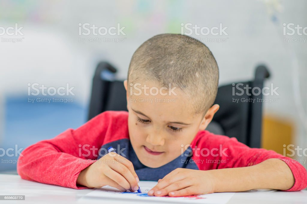Niños Discapacitados Para Colorear Foto De Stock Y Más Banco De