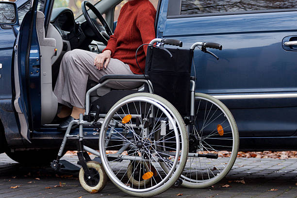 disabled driver - impaired driving stock photos and pictures