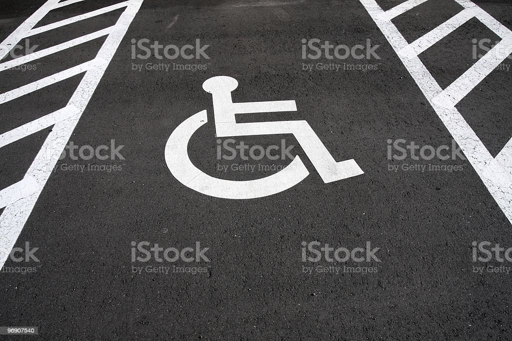 Disabled drivers only royalty-free stock photo
