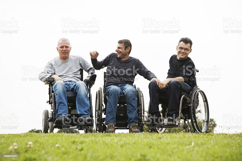 Disabled friends royalty-free stock photo