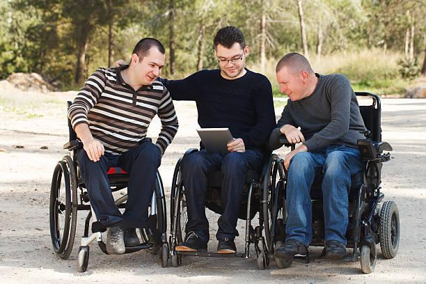 Barrierefreie Freunden mit digitalen Notebook – Foto