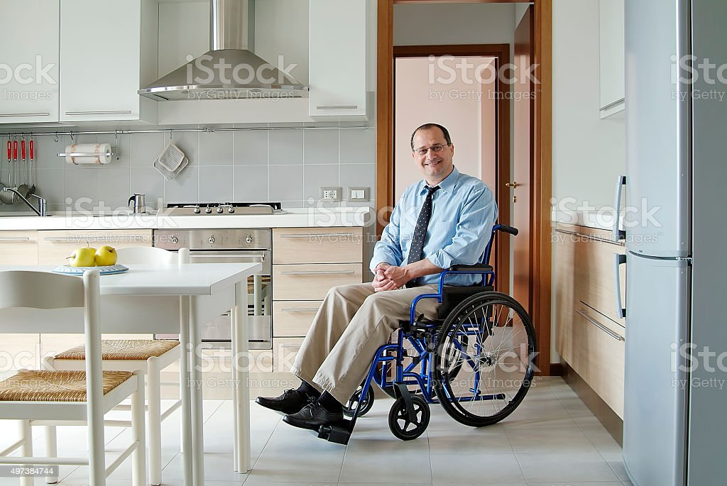 Disabled in the home stock photo