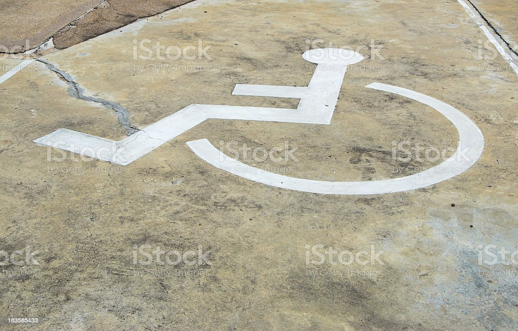 disabled label royalty-free stock photo