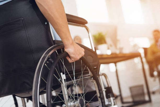 Disabled man is sitting in a wheelchair picture id873015278?b=1&k=6&m=873015278&s=612x612&w=0&h=gaoftbslt4z7c5k7tjmg6i rbfigizbpadox426apom=