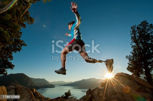 istock Disabled man juming 178510369