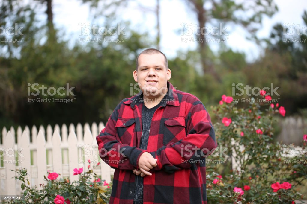 Disabled Man stock photo