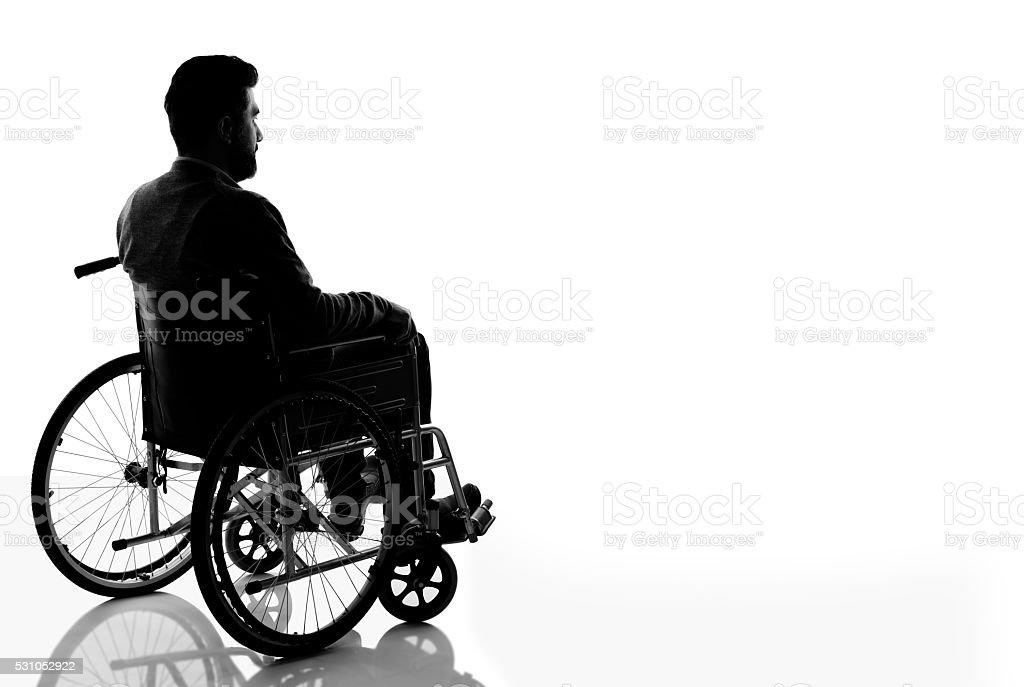 Silueta de hombre con discapacidades - foto de stock