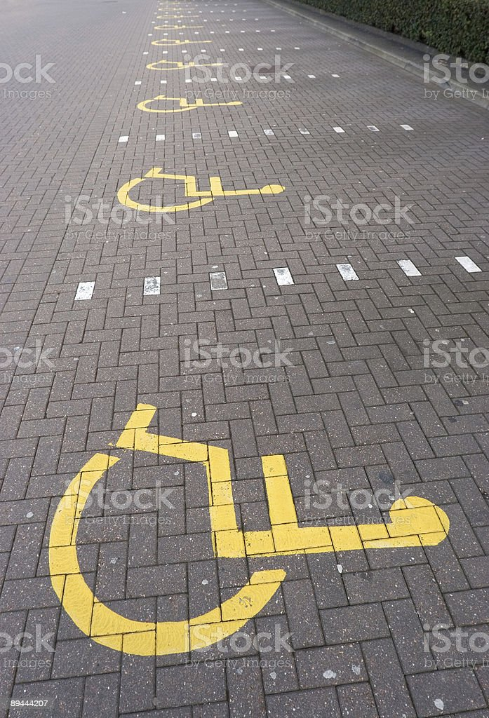 Disabled Parking royalty-free stock photo