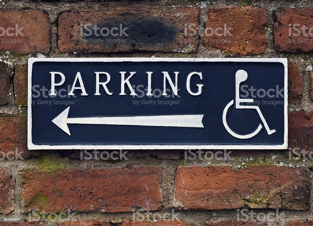 Disabled parking. stock photo