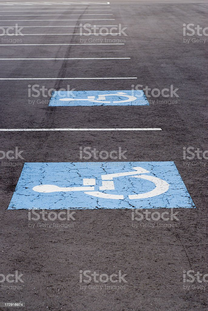 Disabled Parking Space royalty-free stock photo
