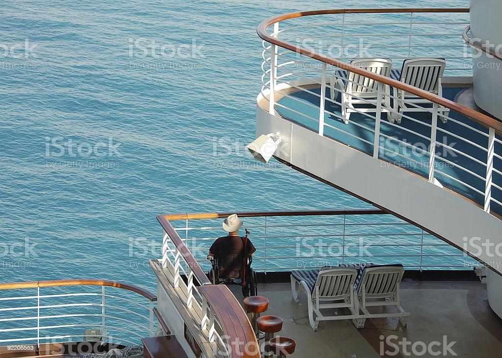 Disabled passenger accomodations on cruise ship stock photo