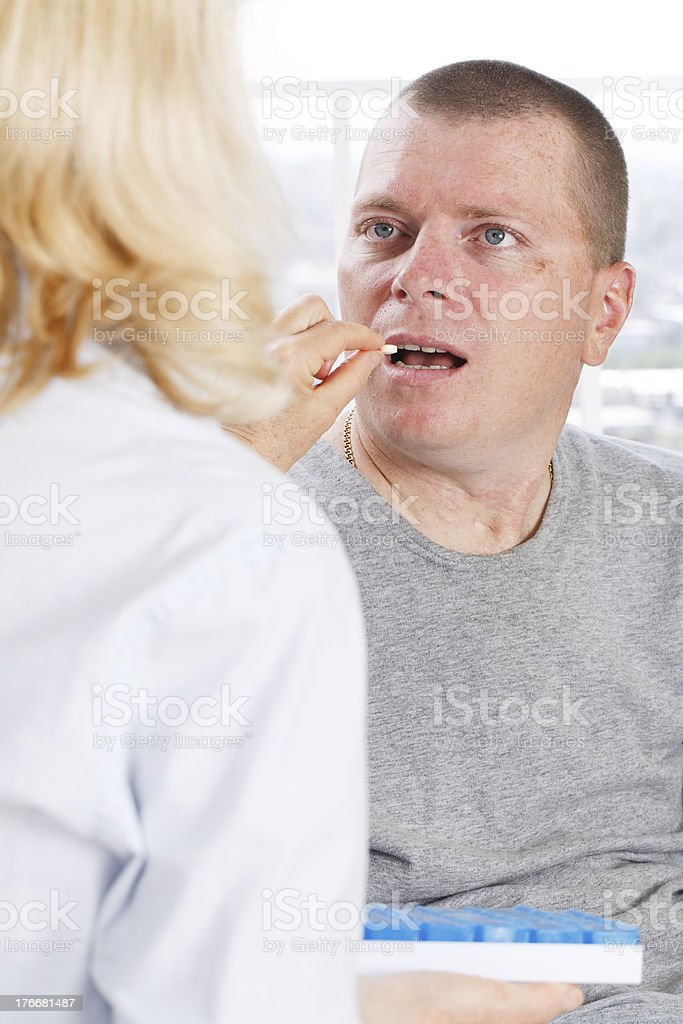 Disabled Patient and nurse royalty-free stock photo