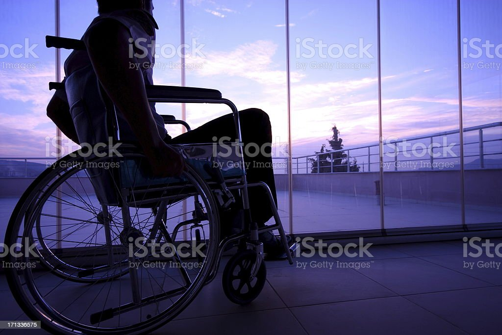 Disabled Person stock photo