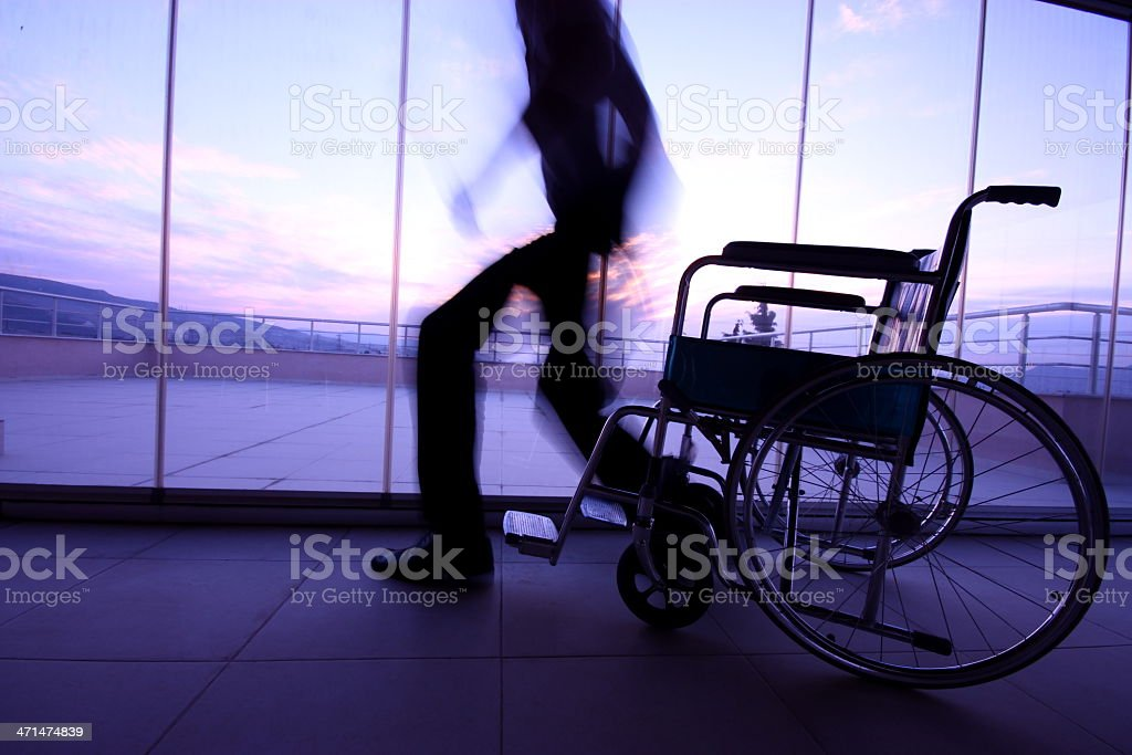 Disabled Person royalty-free stock photo