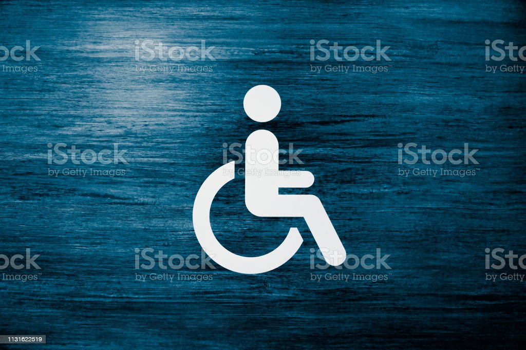Disabled Person Sign, Wheelchair Symbol stock photo