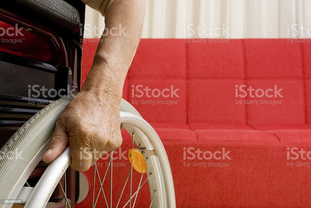 Disabled royalty-free stock photo